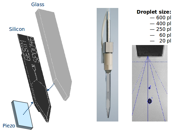 different piezoelectric dispensing volumes