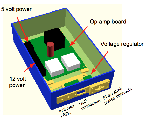 operational amplifier and strob LED