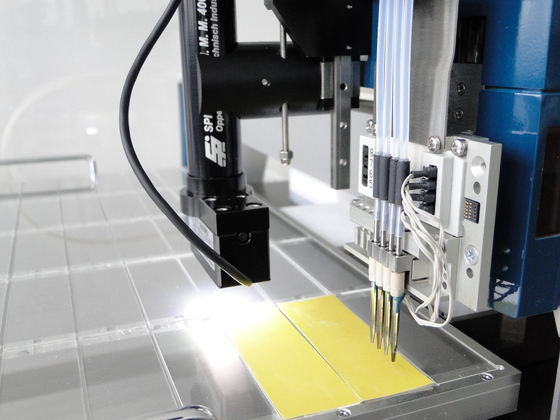 piezoelectric dispensing printhead with video microscope